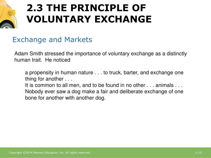 Exchange and Markets