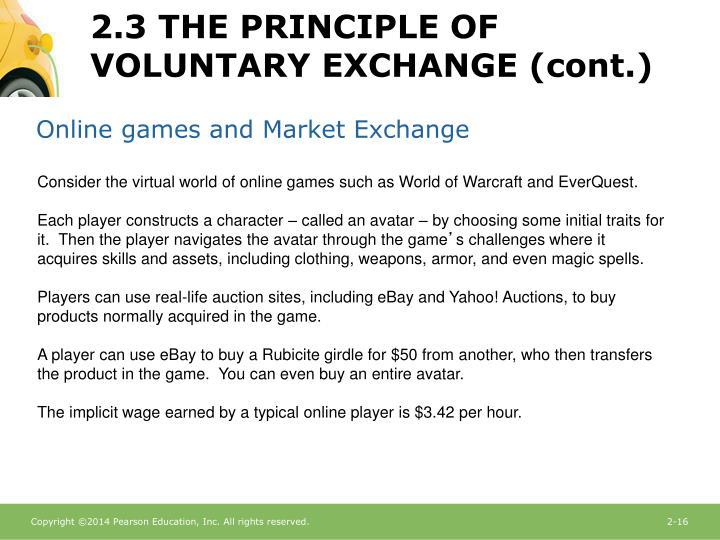 Online games and Market Exchange