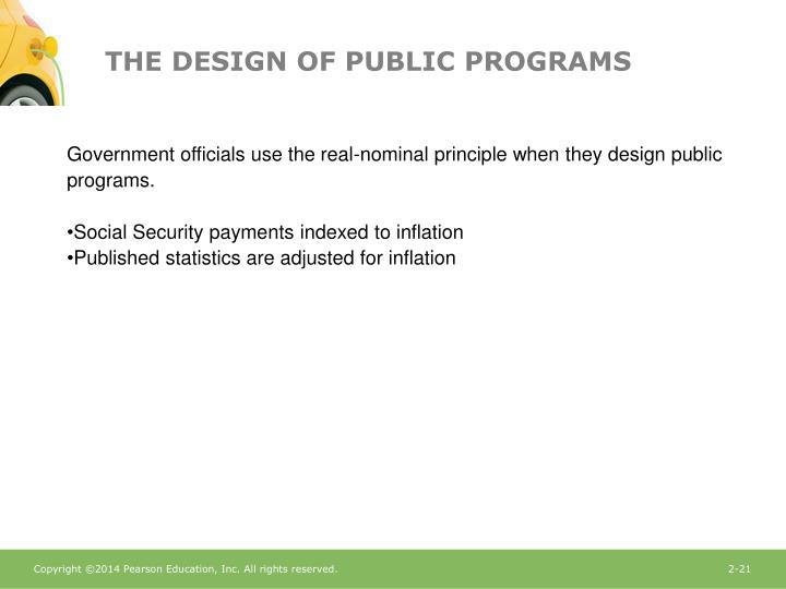 THE DESIGN OF PUBLIC PROGRAMS