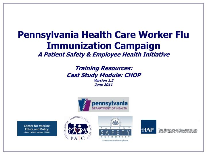 Pennsylvania Health Care Worker Flu Immunization Campaign