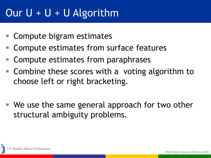 Our U + U + U Algorithm