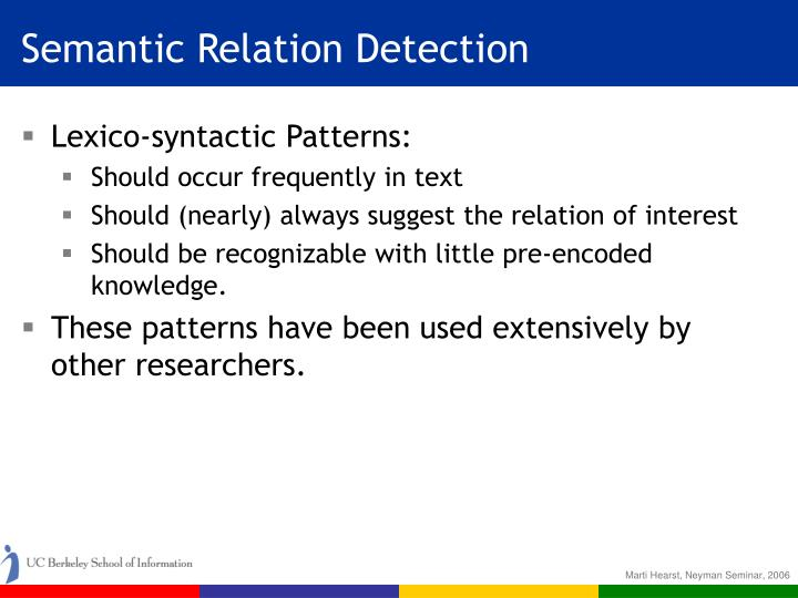 Semantic Relation Detection