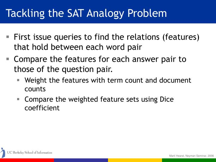 Tackling the SAT Analogy Problem
