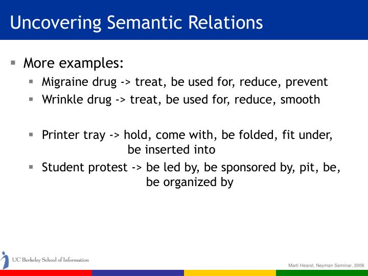Uncovering Semantic Relations