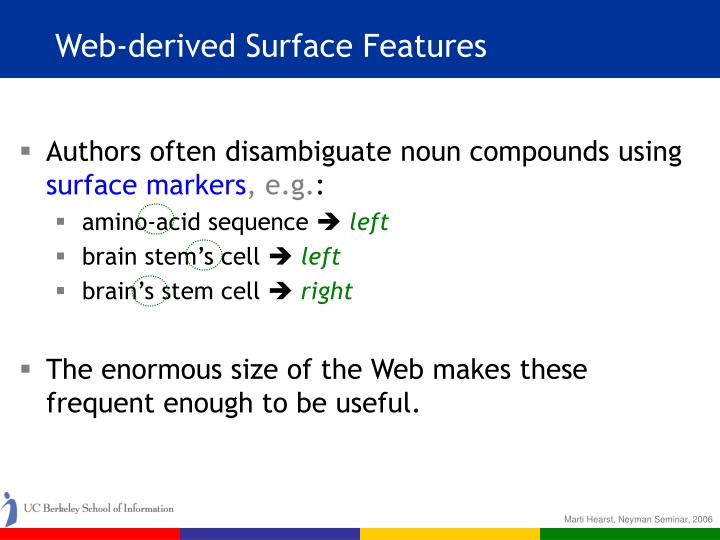 Web-derived Surface Features