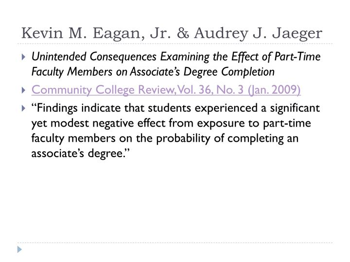 Kevin M. Eagan, Jr. & Audrey J. Jaeger