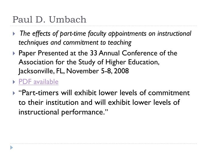 Paul D. Umbach