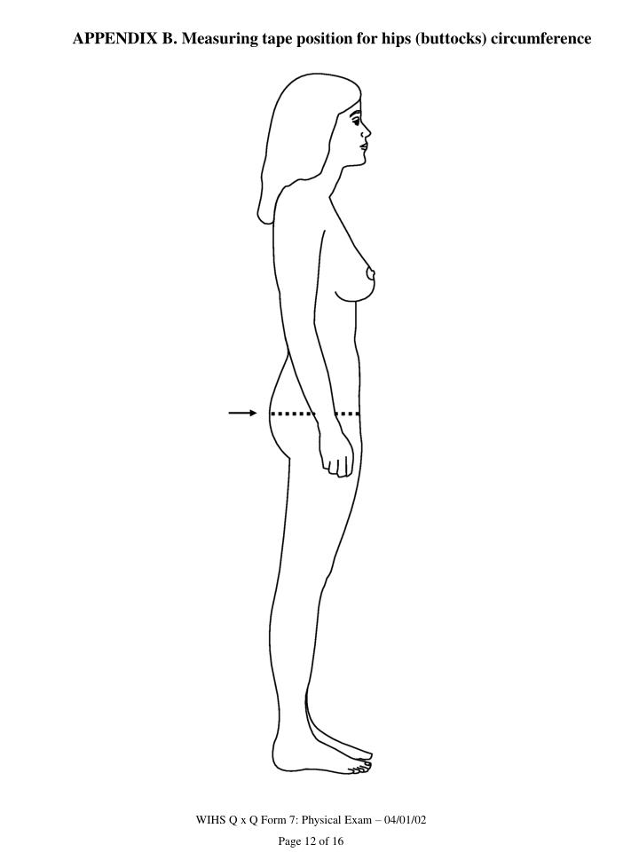 APPENDIX B. Measuring tape position for hips (buttocks) circumference