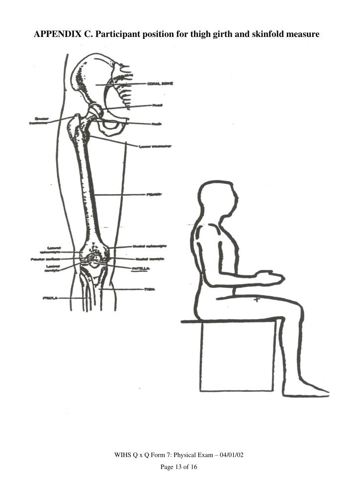 APPENDIX C. Participant position for thigh girth and skinfold measure