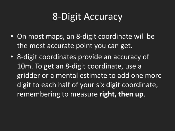 8-Digit Accuracy