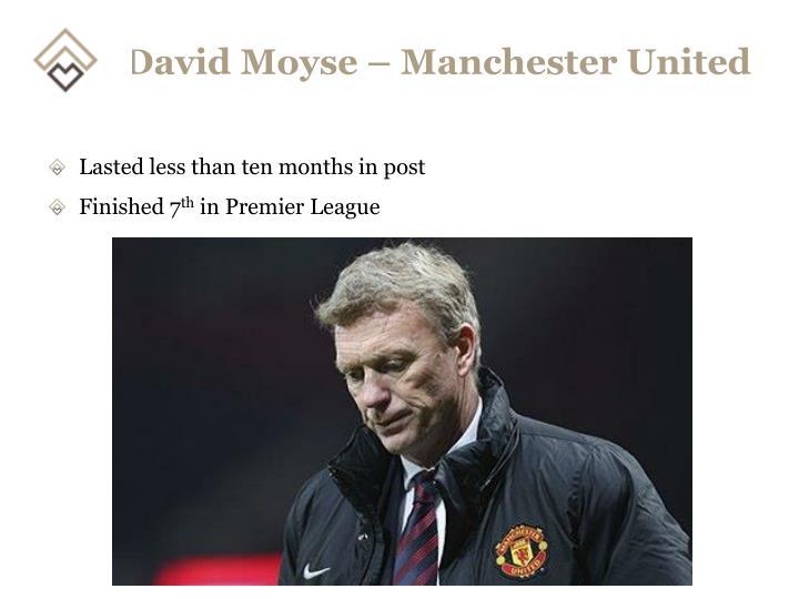 David Moyse – Manchester United