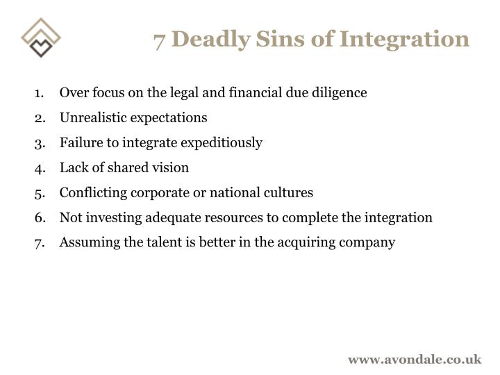 7 Deadly Sins of Integration