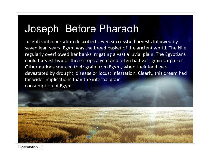 Joseph  Before Pharaoh