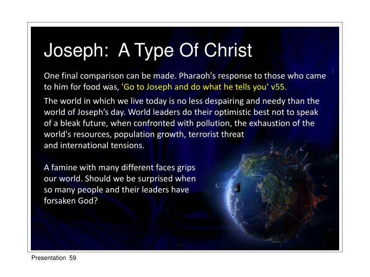 Joseph:  A Type Of Christ