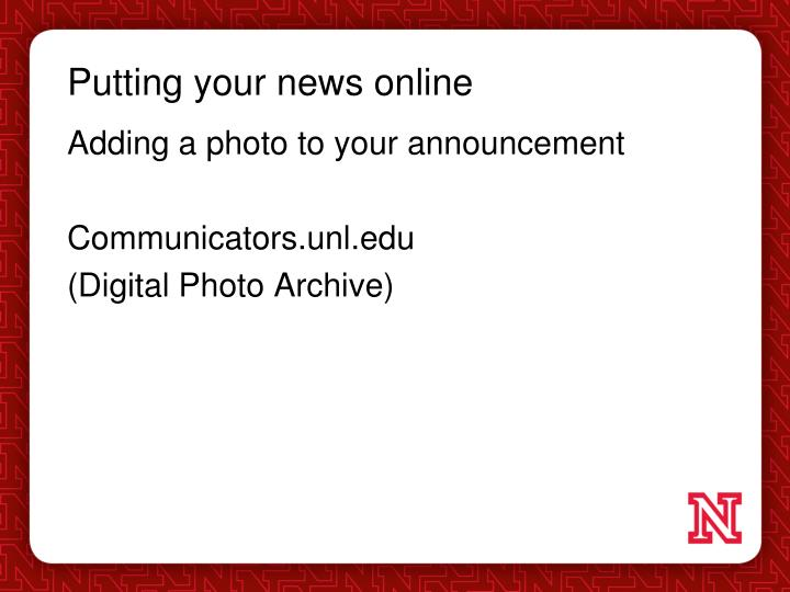 Putting your news online