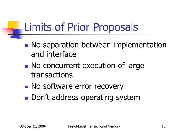 Limits of Prior Proposals