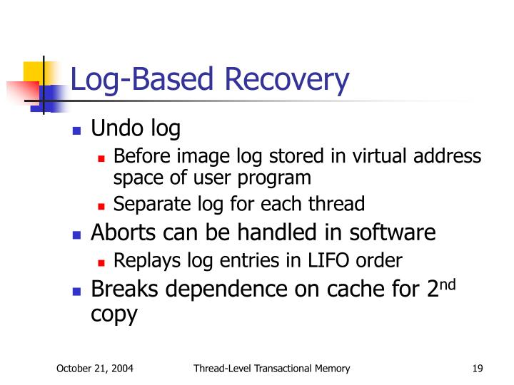 Log-Based Recovery