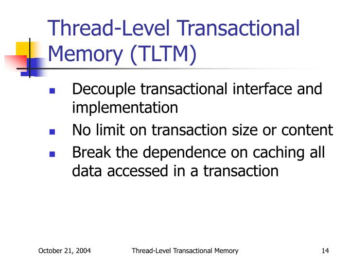 Thread-Level Transactional Memory (TLTM)