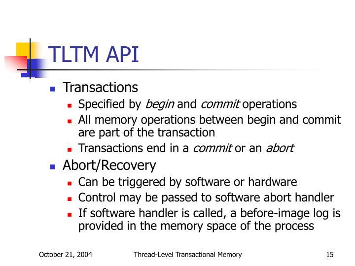 TLTM API