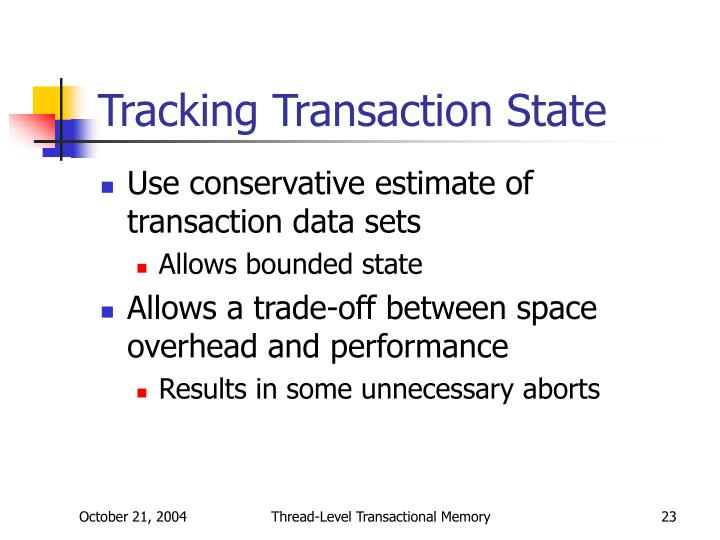 Tracking Transaction State