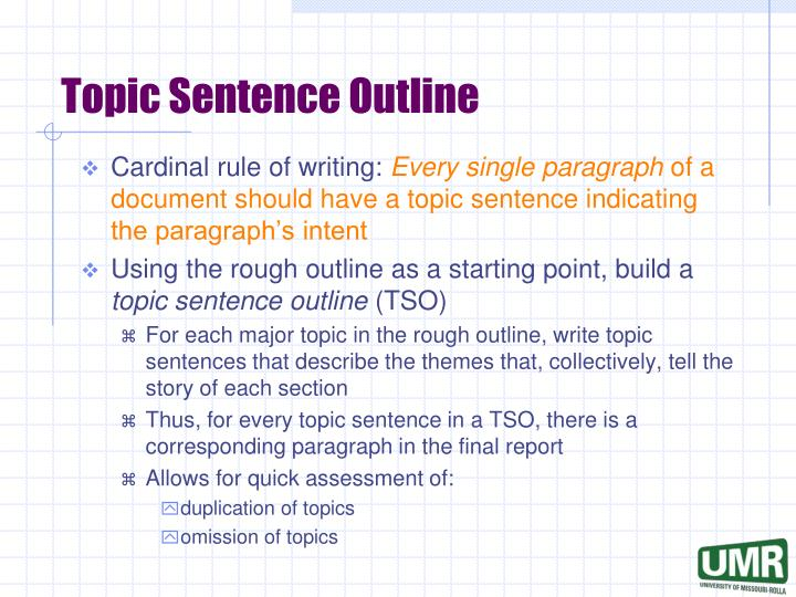 sentence outline for essay Formal sentence outline order description formal sentence outline follow the directions below for the completion of the formal sentence outline assignment for.