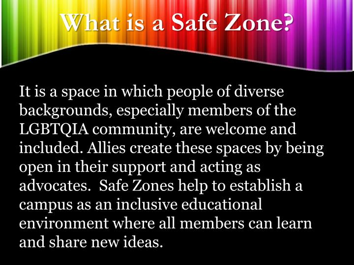 What is a safe zone