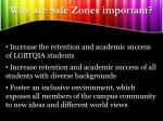 why are safe zones important