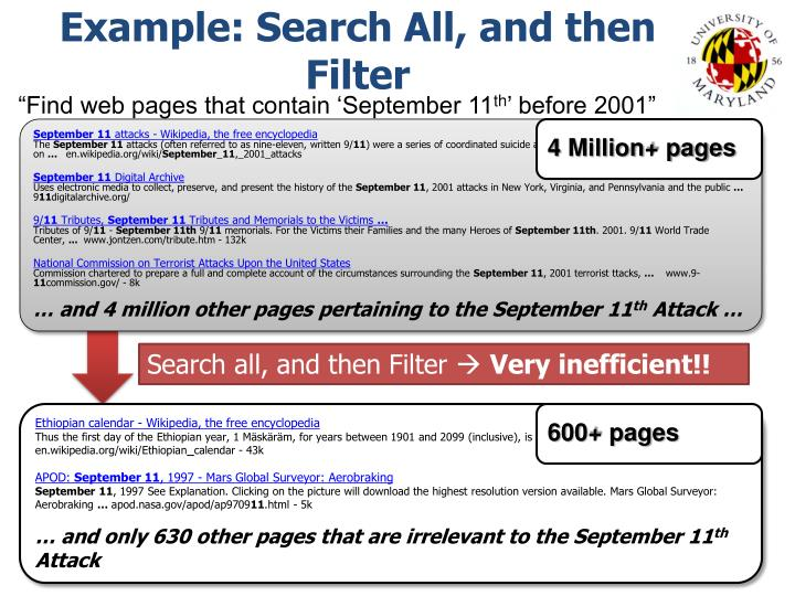 Example: Search All, and then Filter