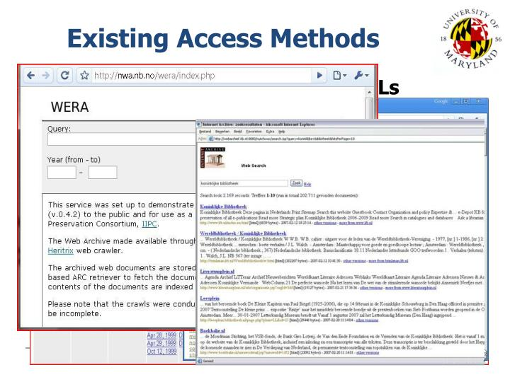 Existing Access Methods