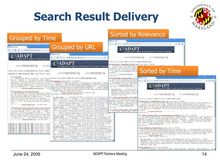 Search Result Delivery