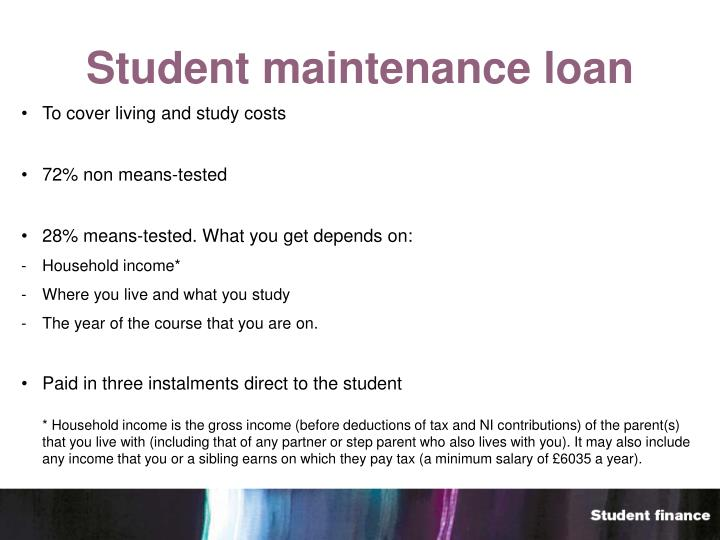 Student maintenance loan