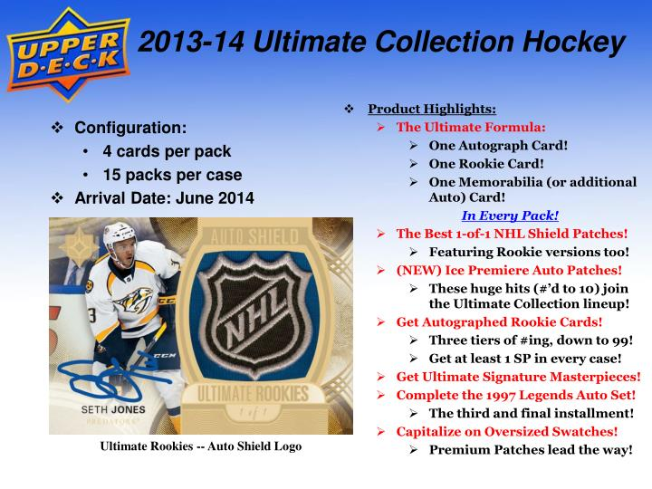 2013-14 Ultimate Collection Hockey