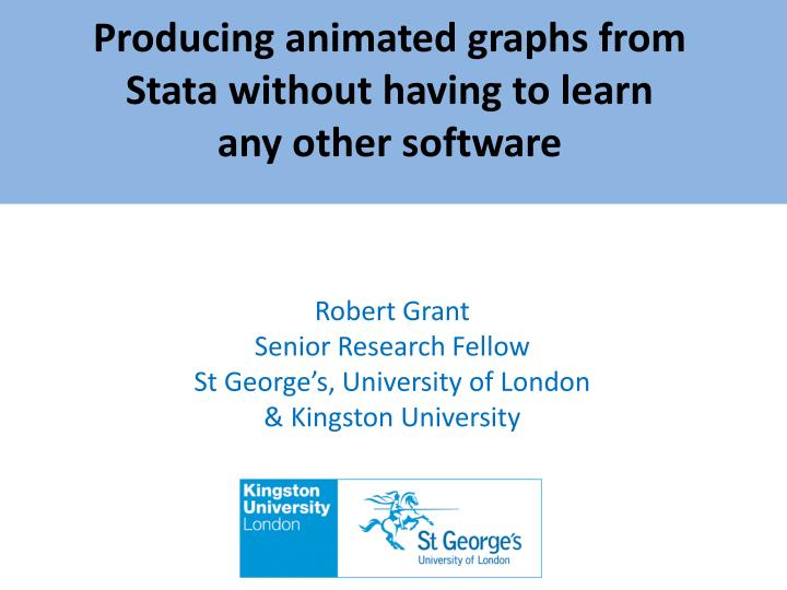Producing animated graphs from