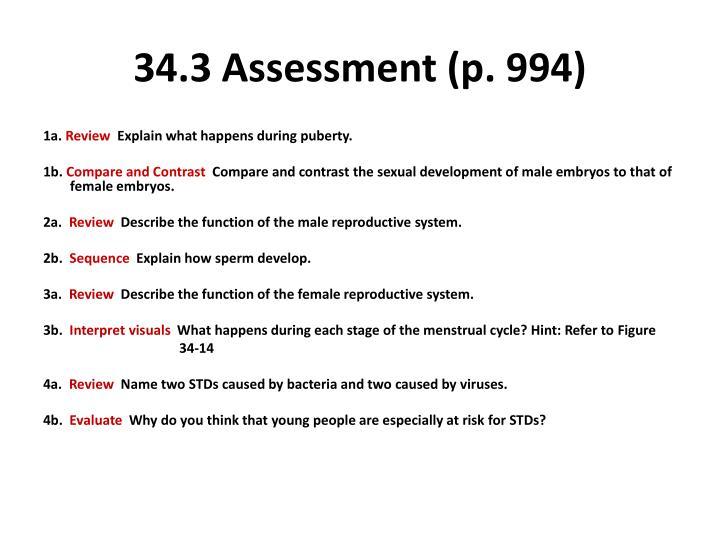 34.3 Assessment (p. 994)