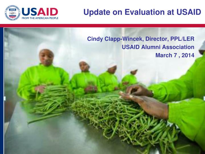 Update on Evaluation at USAID