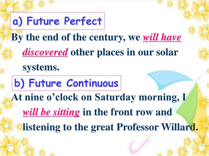 a) Future Perfect