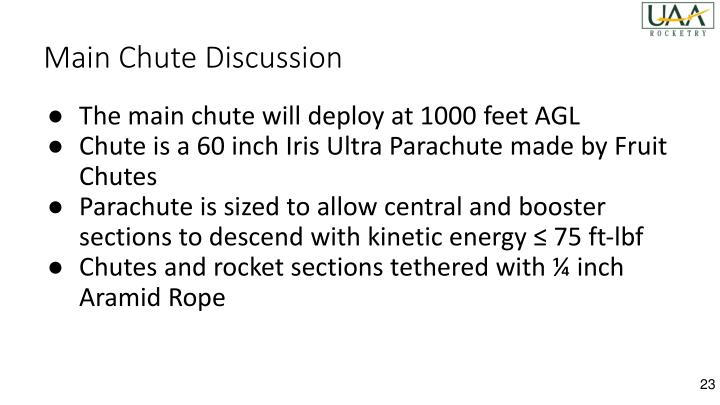 Main Chute Discussion