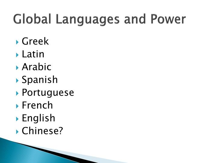Global Languages and Power
