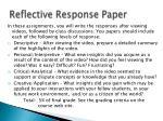 reflective response paper