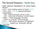 the second diaspora south asia