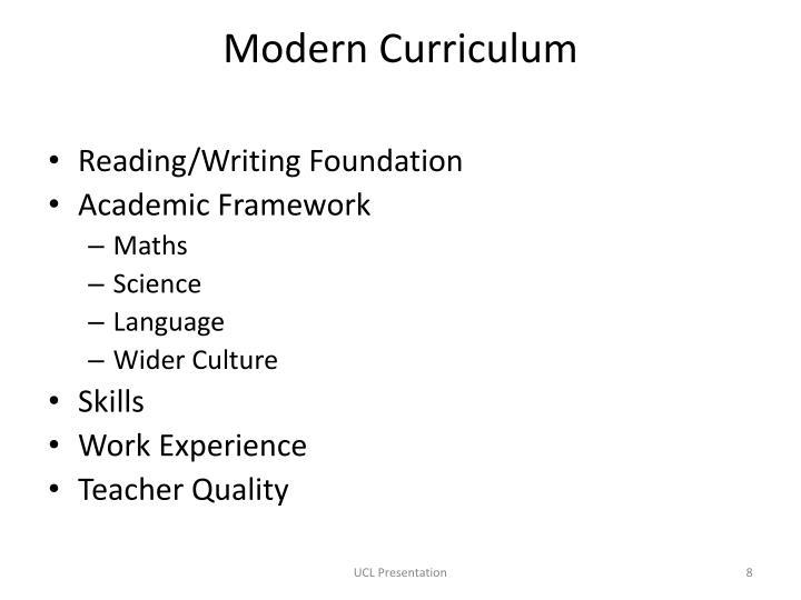 Modern Curriculum