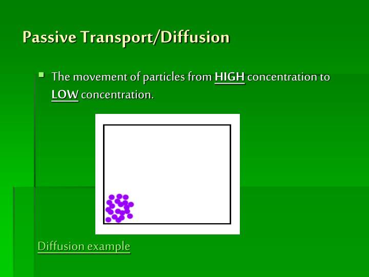 Passive Transport/Diffusion