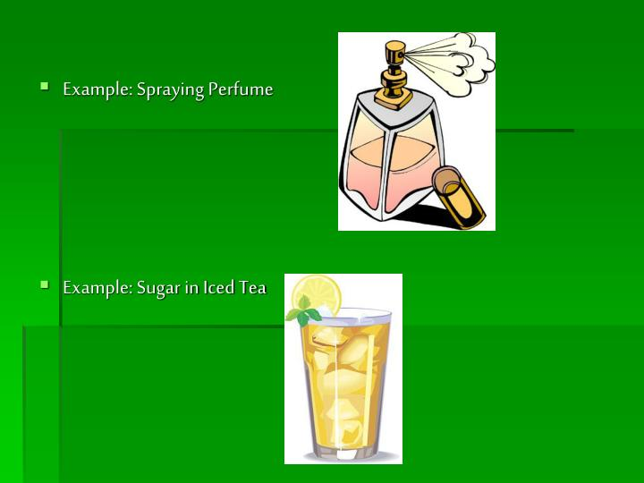Example: Spraying Perfume