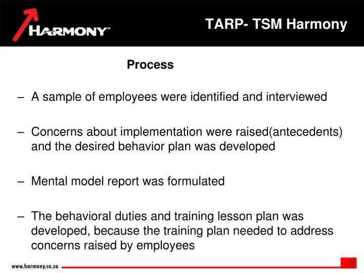 TARP- TSM Harmony