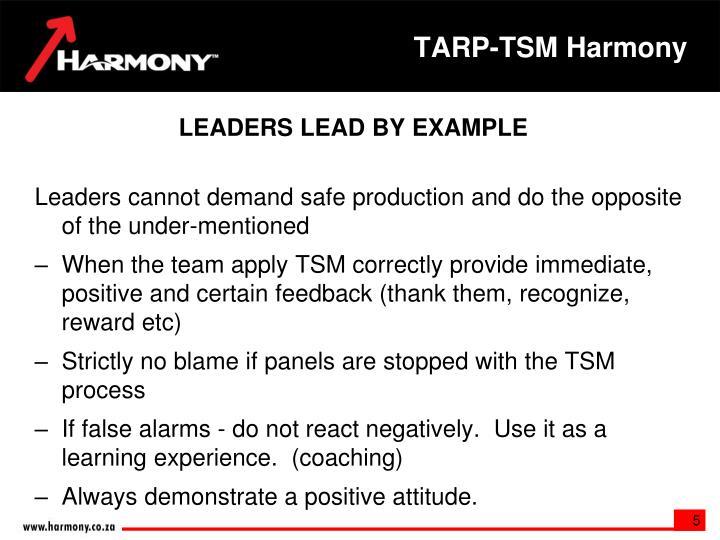 TARP-TSM Harmony