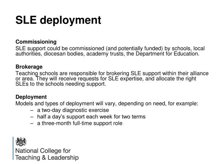 SLE deployment