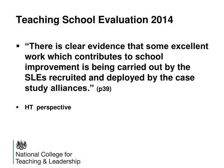 Teaching School Evaluation 2014