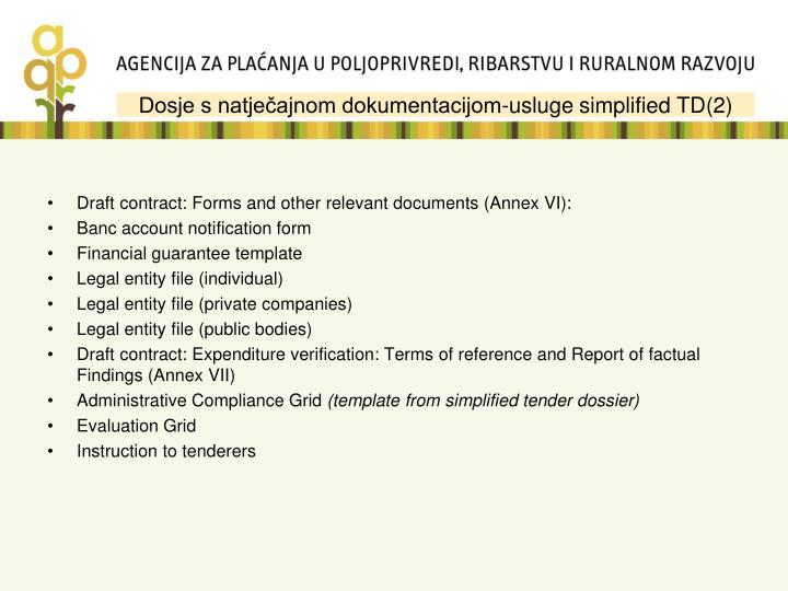 Dosje s natječajnom dokumentacijom-usluge simplified TD(2)