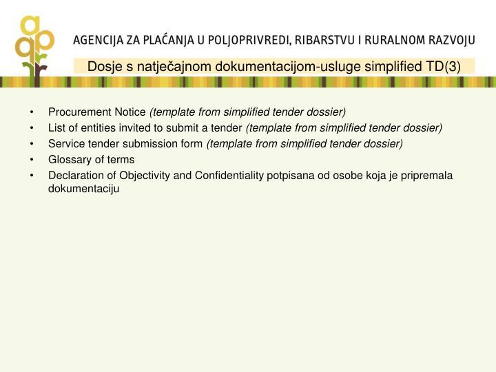 Dosje s natječajnom dokumentacijom-usluge simplified TD(3)