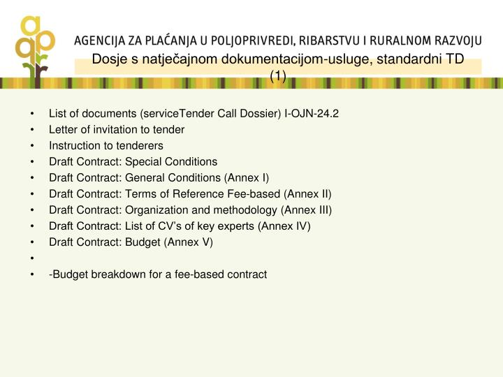 Dosje s natječajnom dokumentacijom-usluge, standardni TD  (1)